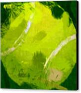 Abstract Tennis Ball Canvas Print