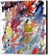 Abstract With Black Date Canvas Print