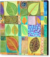 Abstract With Leaves Canvas Print by Jennifer Baird