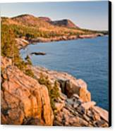 Acadian Cliffs In Autumn 1 Canvas Print by Susan Cole Kelly