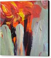 Aceo Abstract Trees  Canvas Print