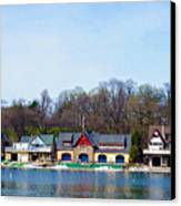 Across From Boathouse Row - Philadelphia Canvas Print by Bill Cannon