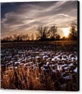 Across The Frozen Fields  Canvas Print by Kim Loftis