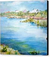 Across The Lake Canvas Print by Dorothy Herron