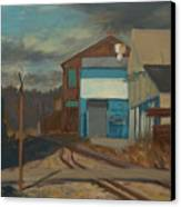 Across The Tracks Canvas Print by Martha Ressler