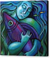 Adoring My Dream Canvas Print by Angela Treat Lyon