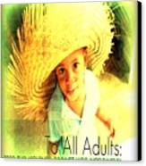 Adults Only Canvas Print by Fania Simon