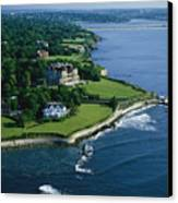 Aerial Of The Breakers, A Mansion Built Canvas Print by Ira Block