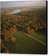 Aerial View Of Shiloh. The Tennessee Canvas Print by Sam Abell