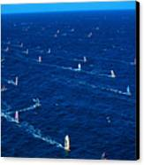 Aerial View Of Windsurfer Canvas Print