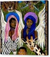 African Angels Canvas Print by The Art With A Heart By Charlotte Phillips
