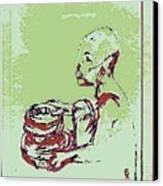 African Boy Blue Canvas Print by Sheri Buchheit