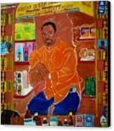 African Queen Market Canvas Print