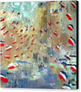 After Monet's Rue Montorgueil Canvas Print