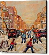 After School Hockey Game Canvas Print