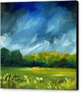 After Spring Rain Canvas Print by Linda L Martin
