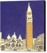 After St. Mark's Square Towards The Basilica Canvas Print