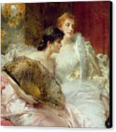After The Ball Canvas Print by Conrad Kiesel