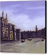 After The Grand Canal From Campo San Vio Near The Rialto Bridge Canvas Print