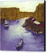 After The Grand Canal From The Rialto Bridge Canvas Print