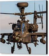 Ah64 Apache Flying Canvas Print by Ken Brannen