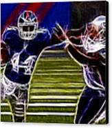 Ahmad Bradshaw Canvas Print by Paul Ward