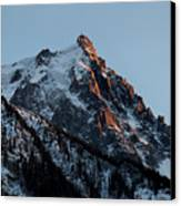 Aiguille Du Midi Chamonix French Alps Canvas Print by Pierre Leclerc Photography