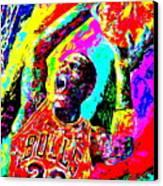 Air Jordan Canvas Print by Mike OBrien
