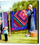 Airing The Quilts Canvas Print