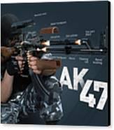 Ak-47 Infographic Canvas Print