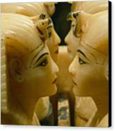 Alabaster Carvings Found In The Tomb Canvas Print by Kenneth Garrett