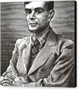 Alan Turing, British Mathematician Canvas Print