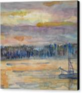 Alaskan Fishing Boat Sunrise Canvas Print
