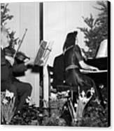 Albert Einstein Giving A Violin Recital Canvas Print