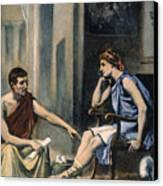 Alexander & Aristotle Canvas Print by Granger