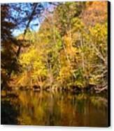 Alexandria Creek In The Fall Canvas Print by Sara  Raber