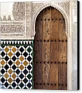 Alhambra Door Detail Canvas Print