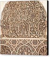 Alhambra Wall Panel Detail Canvas Print by Jane Rix