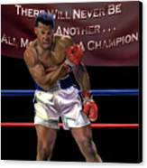 Ali - More Than A Champion Canvas Print by Reggie Duffie