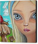 Alice Finds A Snail Canvas Print by Jaz Higgins