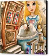 Alice In Wonderland 2 Canvas Print by Lucia Stewart