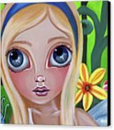 Alice Meets The Caterpillar Canvas Print by Jaz Higgins