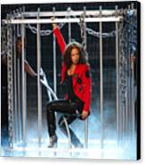 Alicia Keys Uncaged Canvas Print by Steven Sachs