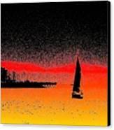 Alki Sail  Canvas Print