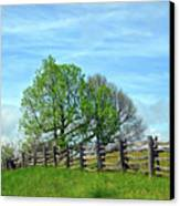 All Fenced In Along The Blue Ridge Parkway Canvas Print by Kerri Farley