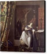 Allegory Of The Faith Canvas Print by Jan Vermeer