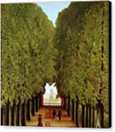 Alleyway In The Park Canvas Print by Henri Rousseau