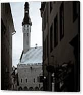 Alone In Tallinn Canvas Print by Dave Bowman