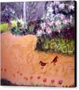 Along The Garden Path Canvas Print