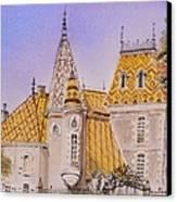 Aloxe Corton Chateau Jaune Canvas Print